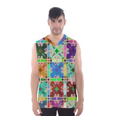 Abstract Pattern Background Design Men s Basketball Tank Top