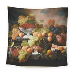 Abundance Of Fruit Severin Roesen Square Tapestry (large)