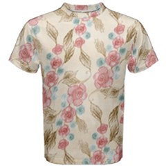 Background Page Template Floral Men s Cotton Tee