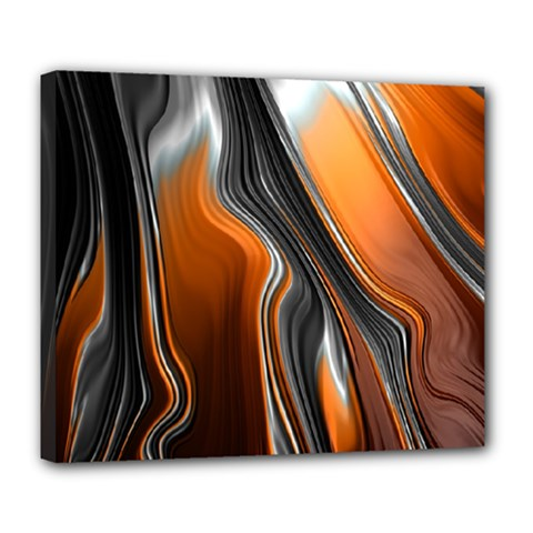 Fractal Structure Mathematics Deluxe Canvas 24  X 20   by Amaryn4rt