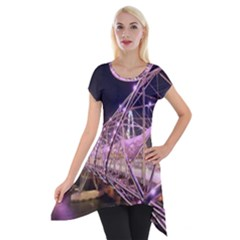 Helixbridge Bridge Lights Night Short Sleeve Side Drop Tunic