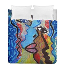 Graffiti Wall Color Artistic Duvet Cover Double Side (full/ Double Size)
