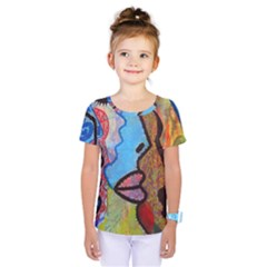 Graffiti Wall Color Artistic Kids  One Piece Tee