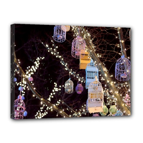 Qingdao Provence Lights Outdoors Canvas 16  X 12  by Amaryn4rt