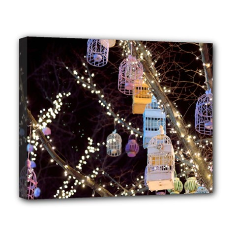 Qingdao Provence Lights Outdoors Deluxe Canvas 20  X 16   by Amaryn4rt