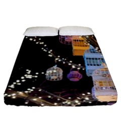 Qingdao Provence Lights Outdoors Fitted Sheet (queen Size) by Amaryn4rt