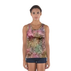 Texture Background Spring Colorful Women s Sport Tank Top  by Amaryn4rt