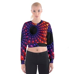 Fractal Mathematics Abstract Women s Cropped Sweatshirt by Amaryn4rt