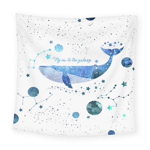 Galaxy Whale Square Tapestry (large)