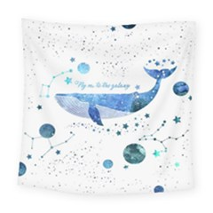 Galaxy-whale Square Tapestry (large) by Wanni