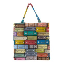 Colored Suitcases Grocery Tote Bag