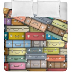 Colored Suitcases Duvet Cover Double Side (king Size)
