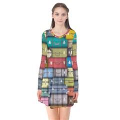 Colored Suitcases Flare Dress