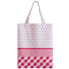 Cute Cartoon Decorative Pink Zipper Classic Tote Bag by AnjaniArt