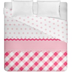 Cute Cartoon Decorative Pink Duvet Cover Double Side (king Size)