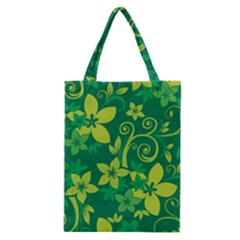 Flower Yellow Green Classic Tote Bag