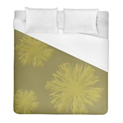 Flower Yelow Duvet Cover (full/ Double Size) by AnjaniArt