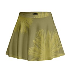 Flower Yelow Mini Flare Skirt