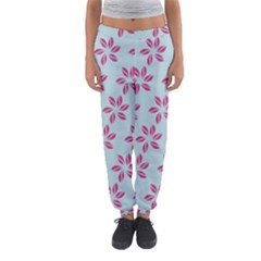 Flowers Fushias On Blue Sky Women s Jogger Sweatpants by AnjaniArt