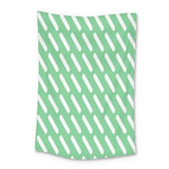 Green White Desktop Small Tapestry
