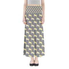 Hearts And Yellow Crossed Washi Tileable Gray Maxi Skirts