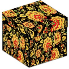Flower Yellow Green Red Storage Stool 12   by AnjaniArt