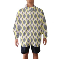 Hearts And Yellow Washi Zigzags Tileable Wind Breaker (kids)