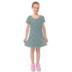 Shadow Flower Kids  Short Sleeve Velvet Dress by AnjaniArt