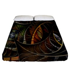 Mosaics Stained Glass Fitted Sheet (king Size)