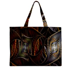 Mosaics Stained Glass Zipper Mini Tote Bag by AnjaniArt