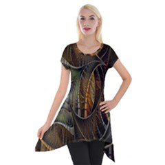 Mosaics Stained Glass Short Sleeve Side Drop Tunic