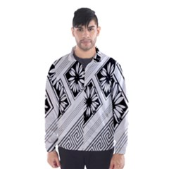 Stripe Seamless Flower Wind Breaker (men) by AnjaniArt
