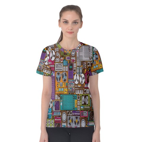 Rol The Film Strip Women s Cotton Tee by AnjaniArt