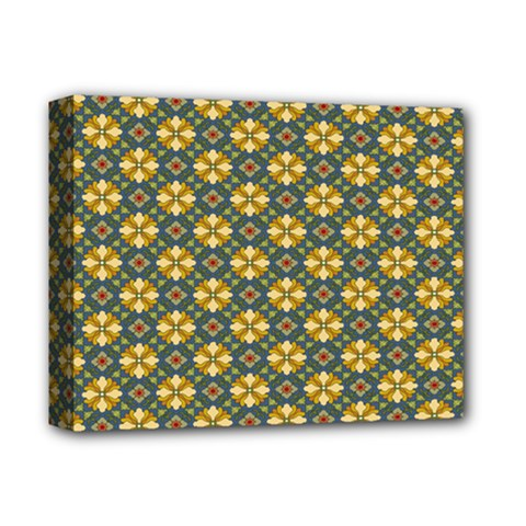 Arabesque Flower Yellow Deluxe Canvas 14  X 11  by Jojostore