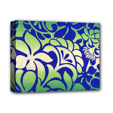 Batik Fabric Flower Deluxe Canvas 14  X 11  by Jojostore