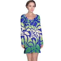 Batik Fabric Flower Long Sleeve Nightdress by Jojostore