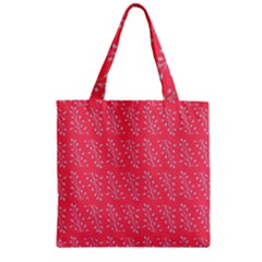 Blue Branches On Fushia Zipper Grocery Tote Bag by Jojostore