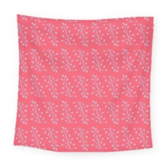Blue Branches On Fushia Square Tapestry (large)