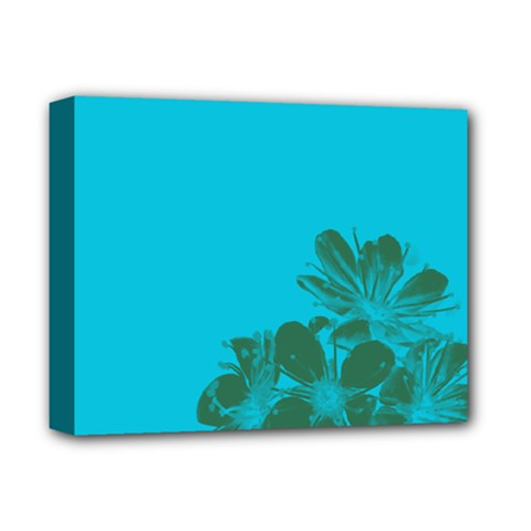 Blue Flower Deluxe Canvas 14  X 11