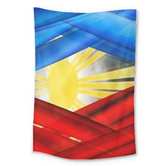 Blue Red Yellow Colors Large Tapestry