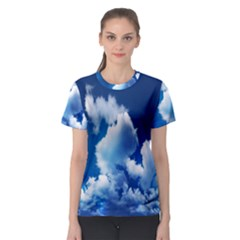 Blue Sky Clouds Women s Sport Mesh Tee