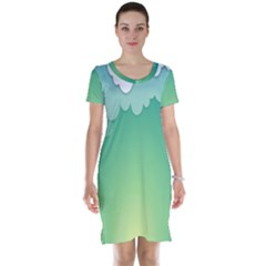 Clouds Short Sleeve Nightdress