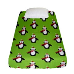Christmas Penguen Fitted Sheet (single Size)