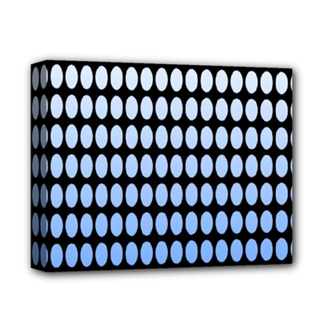 Cricle Blue White Deluxe Canvas 14  X 11  by Jojostore