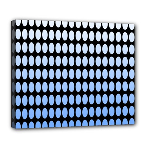 Cricle Blue White Deluxe Canvas 24  X 20   by Jojostore