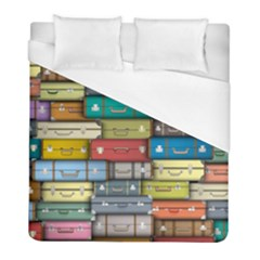 Colored Suitcases Duvet Cover (full/ Double Size) by Jojostore
