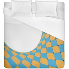 Curve Blue Yellow Duvet Cover (king Size)