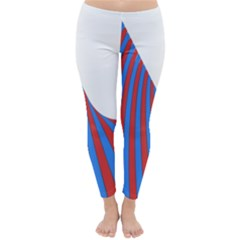 Curve Red Blue Classic Winter Leggings by Jojostore