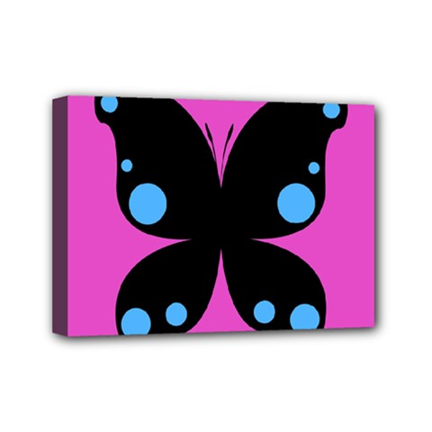 First Butterfly Pink Mini Canvas 7  X 5  by Jojostore