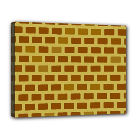 Tessellated Rectangles Lined Up As Bricks Canvas 14  X 11  by Jojostore